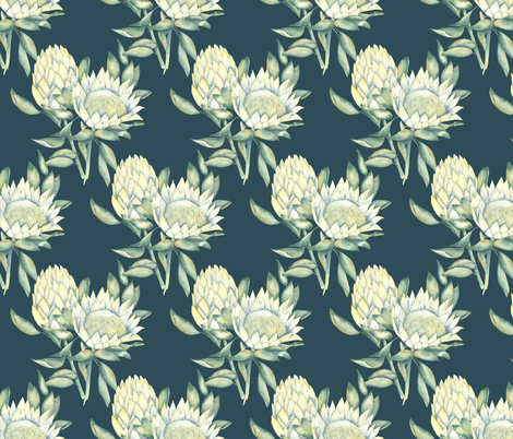 Protea-01 fabric by youdesignme on Spoonflower - custom fabric