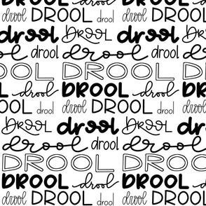 Drool Monster - Hand lettered words