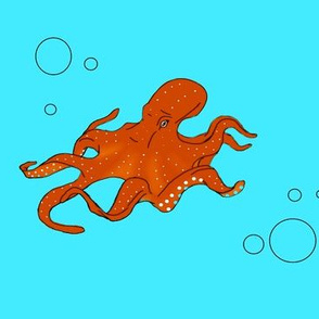 Octopus and bubbles