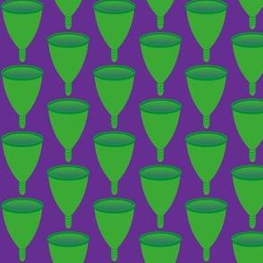 Cups - Green on Purple