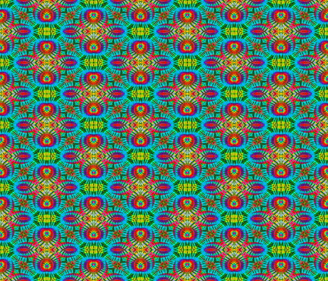 Flying Rainbow Medallions fabric by just_meewowy_design on Spoonflower - custom fabric