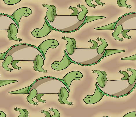 Tacosaur (Abnormals™) fabric by the_abnormals on Spoonflower - custom fabric