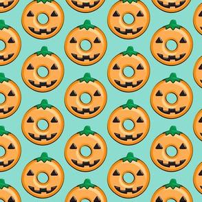 pumpkin donuts - dark aqua