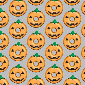 pumpkin donuts - grey