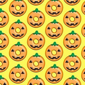 pumpkin donuts - yellow