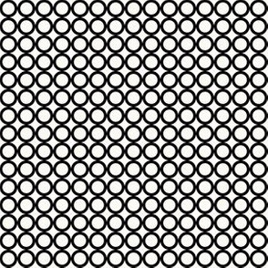 Round N Round: Black & Cream Circle Grid