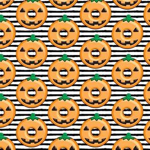 pumpkin donuts - black stripe
