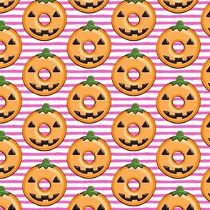 pumpkin donuts - pink stripes
