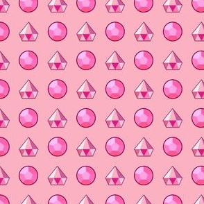 SU Inspired Rose Quartz Pink Diamond Gem