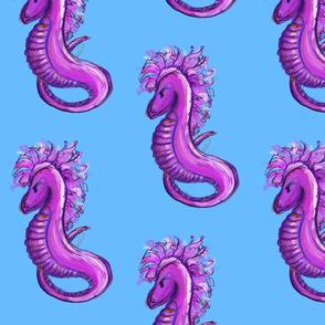 pink seahorses