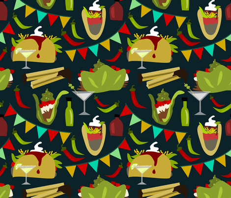 Taco Tuesday fabric by amy_maccready on Spoonflower - custom fabric