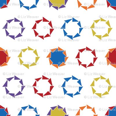 Circle Triangle Block Print Polka Dot