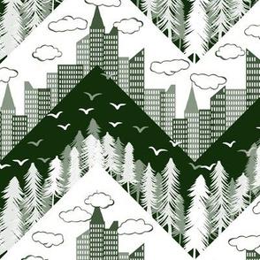 forest city chevron green