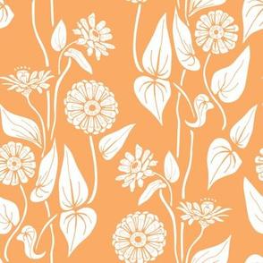 Zinnia Garden, Orange