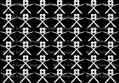 Posie Crossing: Black & Cream Small Print