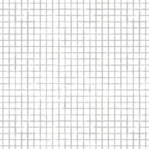 SmallScale Gray Grid Watercolor Plaid