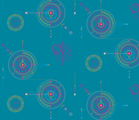 blueprint circles fabric by fastford on Spoonflower - custom fabric