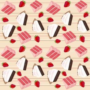 chocolate pie & strawberry cake smaller horizontal