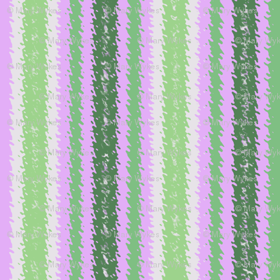 JP30 - Lilac and Green Jagged Stripes