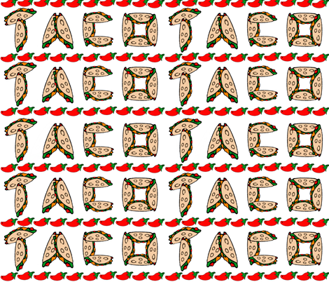 Taco Peppers Border on White fabric by fabric_is_my_name on Spoonflower - custom fabric
