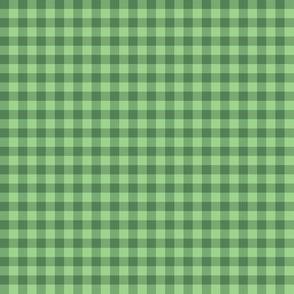 JP30 - Tiny Two Tone Green Buffalo Plaid