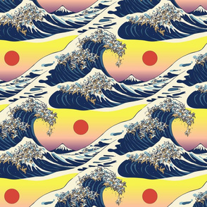 The Great Wave Of Cat