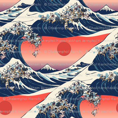 The Great Wave Of French Bulldog