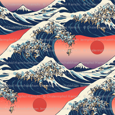 The Great Wave of Pugs