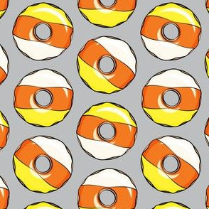 candy corn donuts - halloween donuts grey