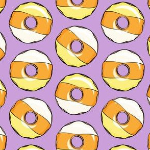 candy corn donuts - halloween donuts purple