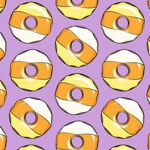 candy corn donuts - halloween donuts purple