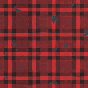 Red Flannel Camping Woodland Plaid Distressed