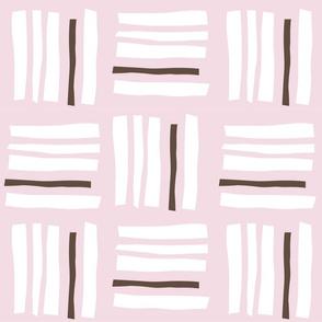Ichimatsu×stripes_Pink & Chocolate