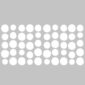 white dots on grey - single row