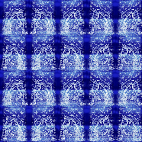 Night moves Acrobatty Print-smaller fabric by cloudsong_art on Spoonflower - custom fabric