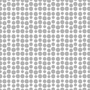 Gray dots on white - full cover
