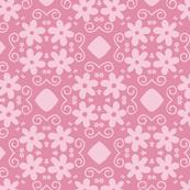 Sweet Pink Pretty Flowers Pattern