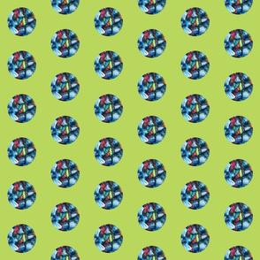 Lime Ocean Fiber Dots