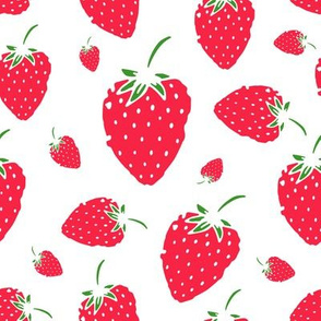 Cute strawberry design for your print