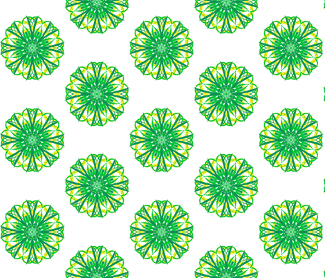 Ornate Flower Buttons on White fabric by rhondadesigns on Spoonflower - custom fabric