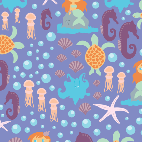 SeaWorld fabric by liudmilakopecka on Spoonflower - custom fabric