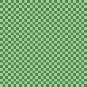 JP30 - Tiny Two Tone Green Checkerboard