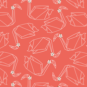 Origami Swans // Red