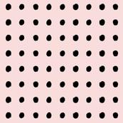 small dots BLACK & ROSE