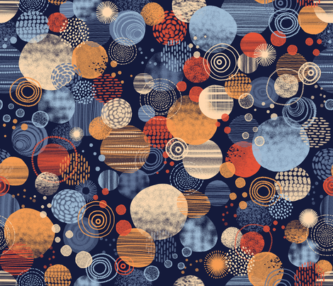 CLUSTERING CIRCLES fabric by catalinakim on Spoonflower - custom fabric