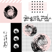 abstract circles & dots collage