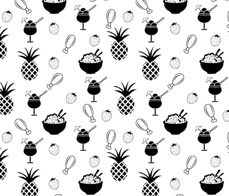 Food cravings fabric by jilscouture on Spoonflower - custom fabric