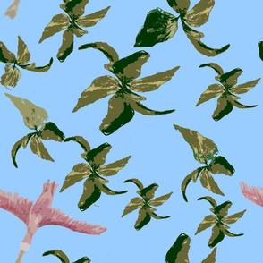 Roseate spoonbill pattern