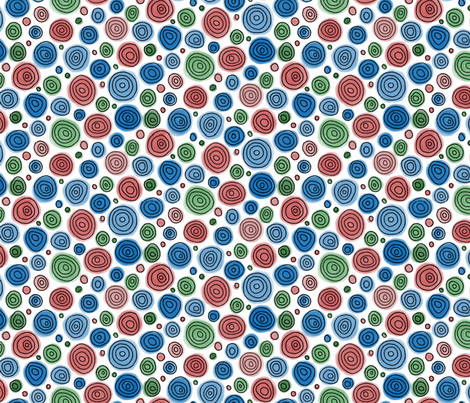 Sketched Circles -  brights fabric by inklaura on Spoonflower - custom fabric