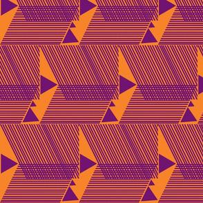 Escherish Fringe in Motion-tangerine-iris